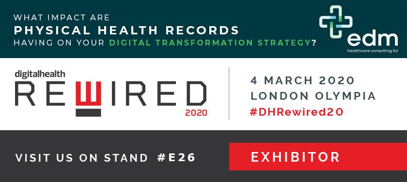 EDM Healthcare Consulting exhibiting at Digital Rewired
